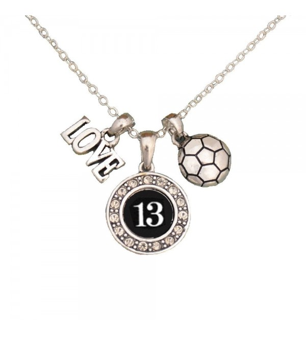 Custom Player Jersey ID Soccer Necklace (Available in 25 numbers) - CC11J2NYN3D
