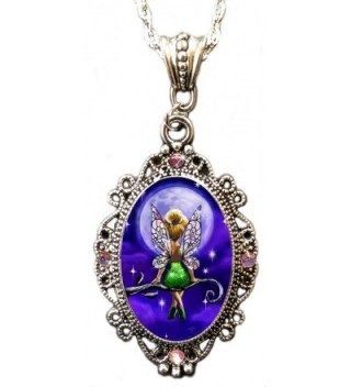 "Alkemie ""Tinkerbell"" Cameo Pendant Necklace with Sparkles - CU12IO2BNDZ"
