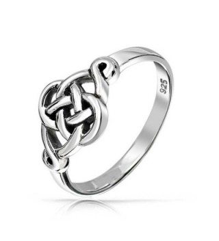 Irish Cut Out Celtic Love Knot Sterling Silver Ring - C711B8A9RGZ