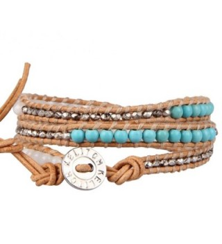 KELITCH Created Turquoise Mother pearl Bracelet