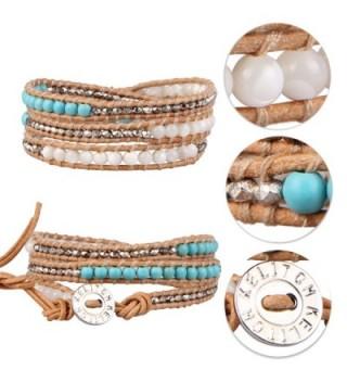 KELITCH Created Turquoise Mother pearl Bracelet in Women's Wrap Bracelets