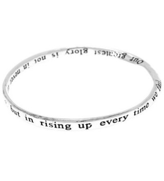 Greatest Glory Poem Inspirational Quote Engraved Twist Bangle Bracelet. - CC12FE9V16P