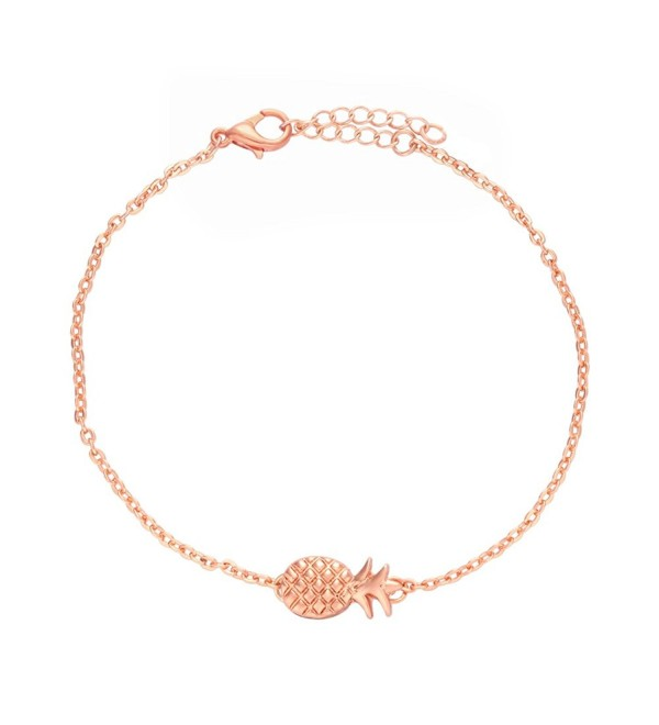 NOUMANDA Lovely Fruit Chain Metal Pineapple Charm Bracelets Fashion Jewelry - CH12O8DW0UJ
