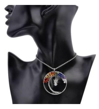 Vintage Necklace Gemstones Pendant Handmade in Women's Pendants