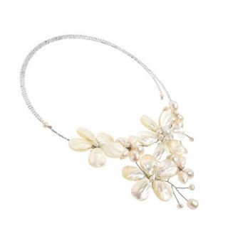 Floral Cultured Freshwater Cluster Necklace