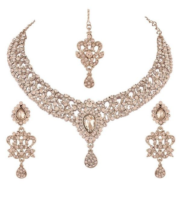 I Jewels Necklace Set with Maang Tikka & Earrings for Women M4049ZW - CP12HB58ZF5