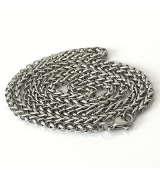 Stainless Steel Wheat Jewelry Silver in Women's Chain Necklaces