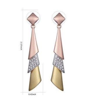 XZP Statement Earrings Zirconia Tricolor
