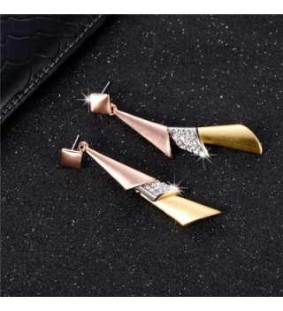 XZP Statement Earrings Zirconia Tricolor in Women's Drop & Dangle Earrings