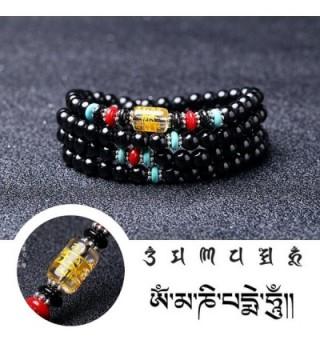 Bracelet Obsidian Religious Meditation Buddhist