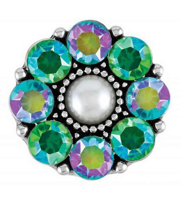 Ginger Snaps (Standard Size) Interchangeable Jewelry Snap Accessory - Aria - Peridot and Aqua - CU12BEAGUIB