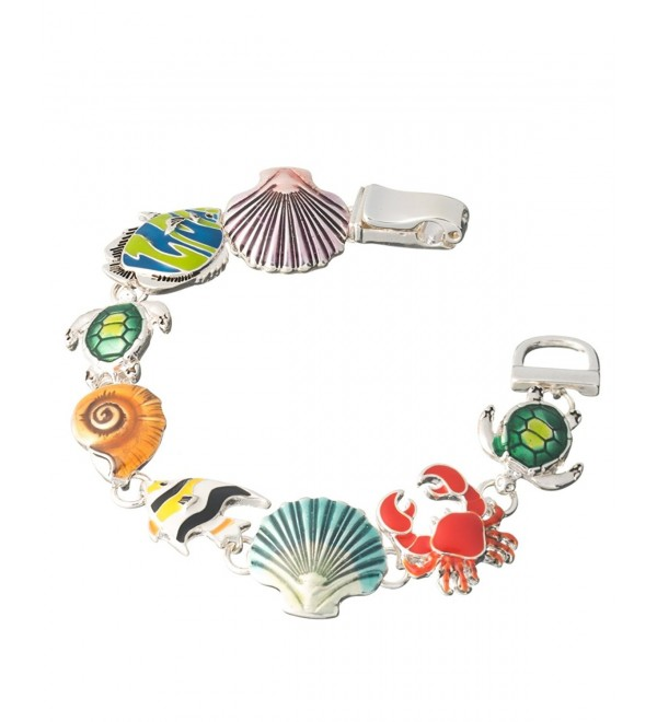 Sea Turtle Angel Fish Crab Sand Dollar Dolphin Shell Star Fish Sea life Ocean Theme Magnetic Bracelet - CK11FJO1RAZ