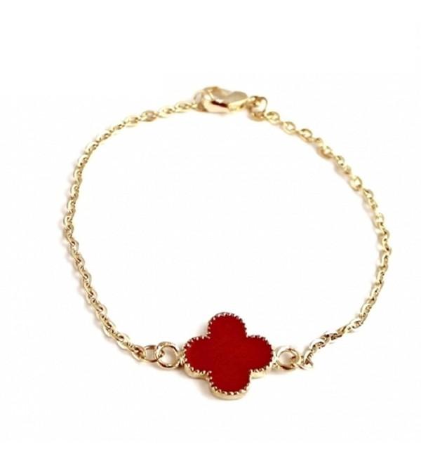 Four Leaf Clover Charm Fashion Chain Bracelet - CK11C0MX9CT