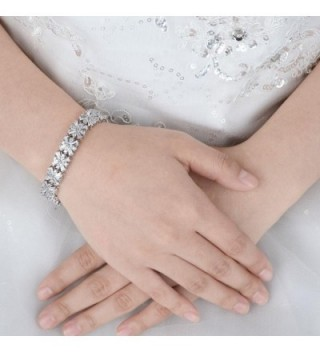 EVER FAITH Silver Tone Wedding Bracelet