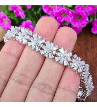 EVER FAITH Silver Tone Wedding Bracelet in Women's Tennis Bracelets