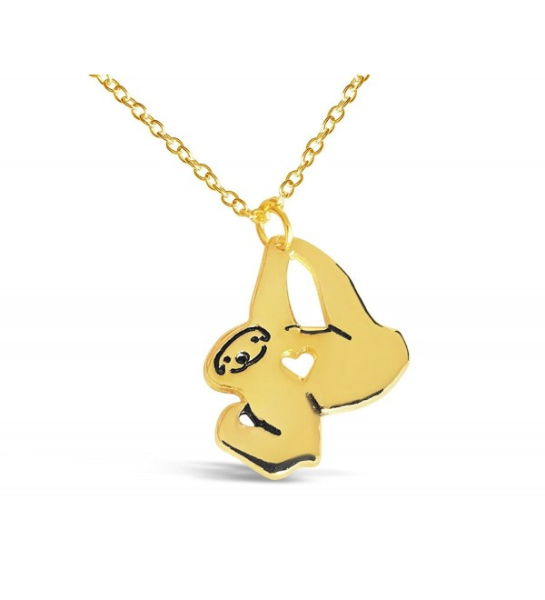Rosa Vila Tiny Love Sloth Necklace - Sloth Inspired Animal Jewelry for Women - C8183TX0H4T