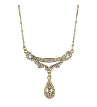 Downton Abbey Boxed Gold-Tone Teardrop Collar Necklace - C411LO5K2V9