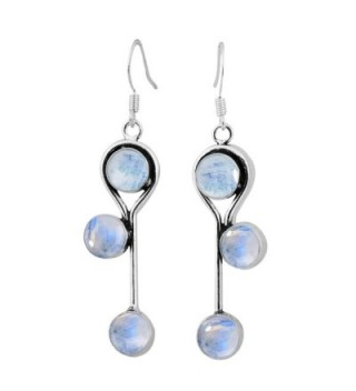 Moonstone Silver Earrings Sterling Jewelry