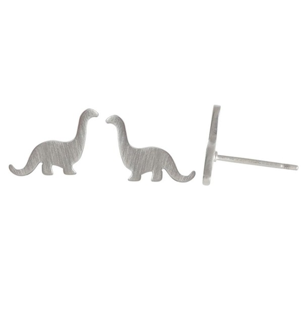 Boma Sterling Silver Brontosaurus Dinosaur Stud Earrings - CU12DLO42JD