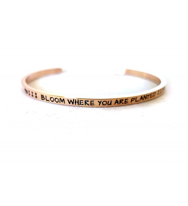 Bloom Where You Are Planted - Rose Gold - CH182KZY9H3