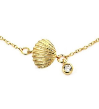 Bling Jewelry Plated Silver Seashell