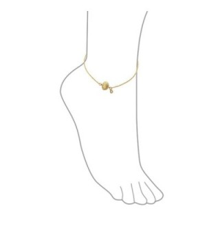 Bling Jewelry Plated Silver Seashell in Women's Anklets