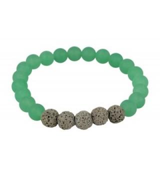 Matte Green Aventurine and Grey Lava Rock Essential Oil Bracelet Essential Oil Jewelry 8mm Yoga Jewelry - CE12O2XUK5E
