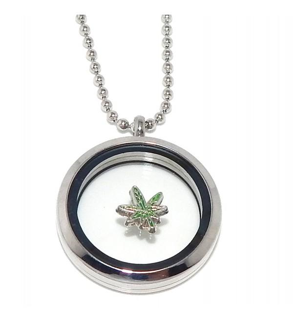 "Jewelry Monster ""Pot Leaf"" for Floating Charm Lockets - C011UQ2WKCF"