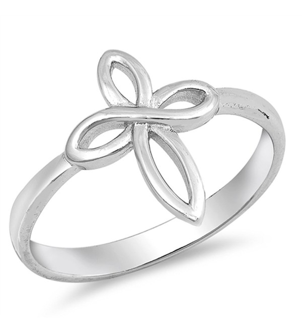 Infinity Love Knot Cross Christian Ring New .925 Sterling Silver Band Sizes 5-10 - CK184Y9XYRH
