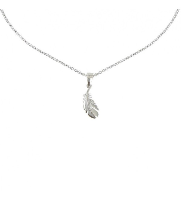 Les Poulettes Jewels - Necklace Silver RhodiumBird Feather - C211M0FAFQ3