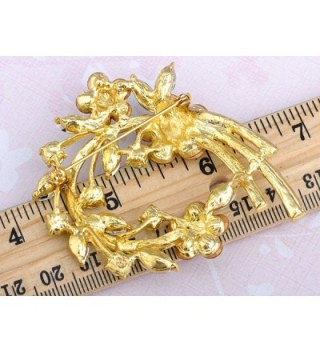 Alilang Crystal Rhinestone Spring Floral in Women's Brooches & Pins