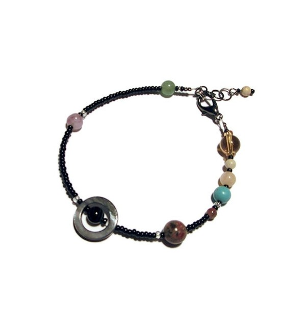 MiniVerse Bracelet- We Love Pluto! (7.5-8.5in Adjustable) Solar System Bracelet by Chain of Being- $27.50 - CU12JNL53RN