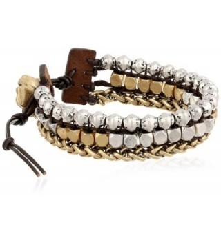 Lucky Brand Womens Royal Jewels Mixed Two-Tone Faux Wrap Bracelet - Two-Tone - C211EA564J3