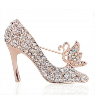 Full Inlay Crystal High Heels Shoes Princess Brooch Pins Gift for Women Girl (AB Crystal) - CV12FVOLARH