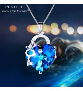 Necklace PLATO Swarovski Crystal Neckalce in Women's Pendants