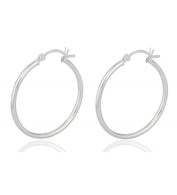 925 Sterling Silver 1.25 Inch Hoop Earrings [Jewelry].. - CX11MQT7DGT