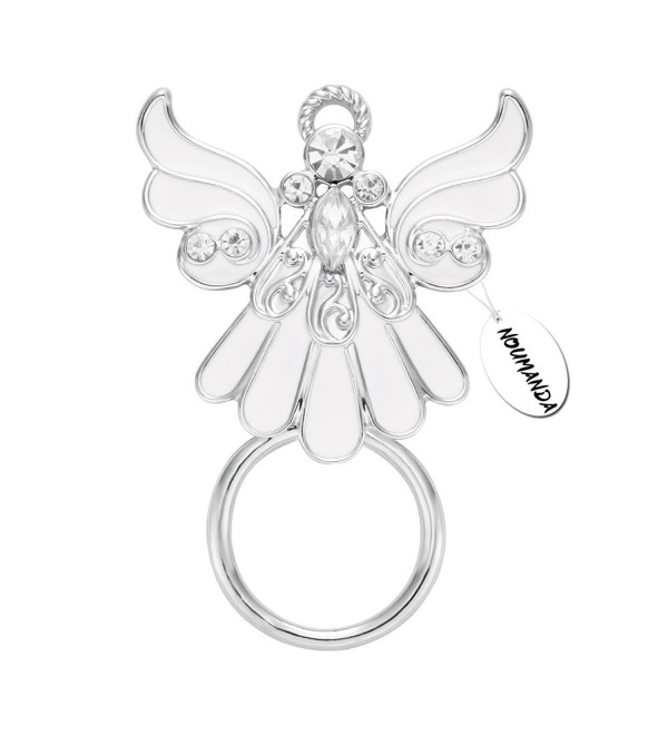 NOUMANDA Rhinestone Crystal Angel Wings Eyeglass Holder&Brooches Pin - CK12LODTGET