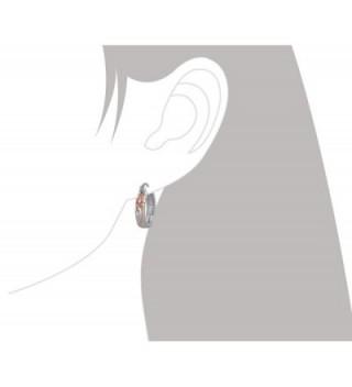 Sterling Silver Accents Engraved Earrings in Women's Hoop Earrings