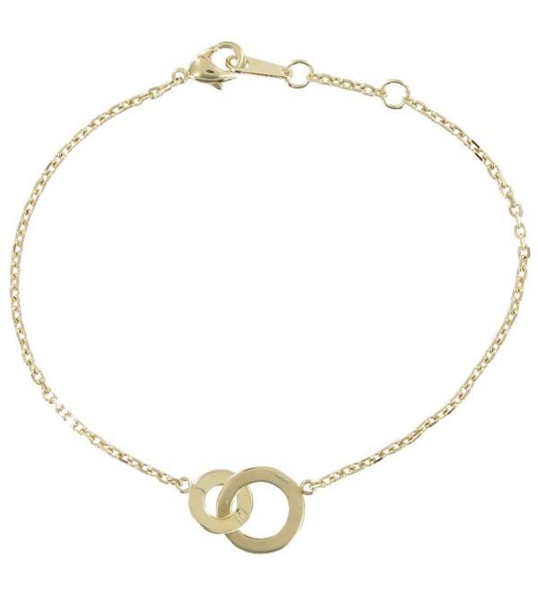Les Poulettes Jewels - Gold Plated Circles Bracelet - Adjustable Chain - CE116OY11I3