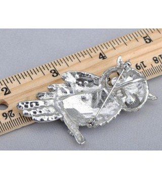 Alilang Crystal Rhinestone Perched Silvery in Women's Brooches & Pins