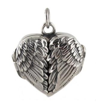 Sterling Silver Angel Wings Locket Pendant - CJ11GMS93X1