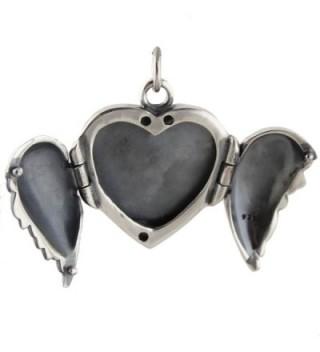 Sterling Silver Angel Locket Pendant in Women's Lockets