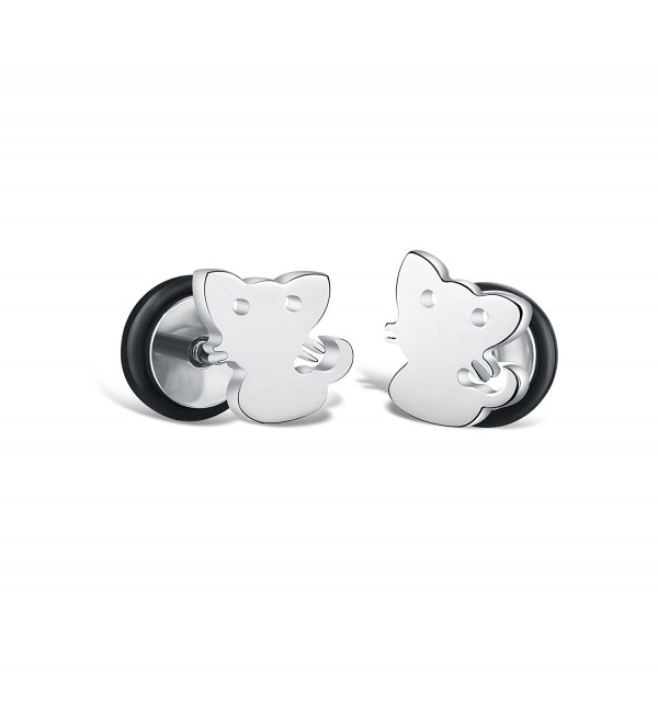 Aegean Jewelry Titanium Lady's Charming Stud Earring with a Gift Box and a FREE Small Gift - C711FU1SM7T