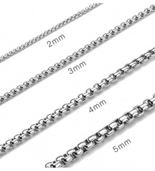 db2b473f39b39 Women's Men's Stainless Steel Round Box Chain Link Necklace 60cm -  CQ1885S34H6