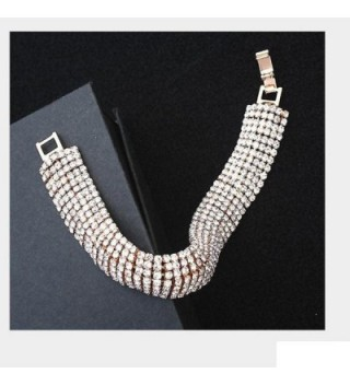 Susenstone Rhinestone Stretch Multilayer Bracelet