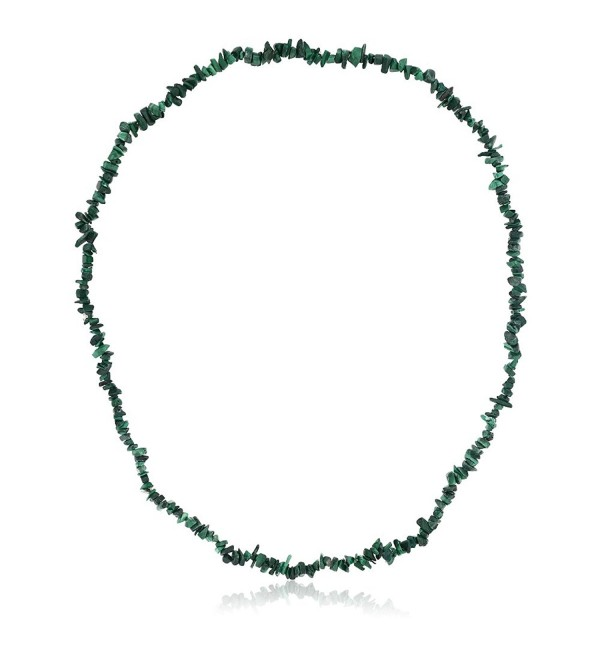 447.00 Carat Malachite Chip Necklace 32 Inch - CP116GH5017