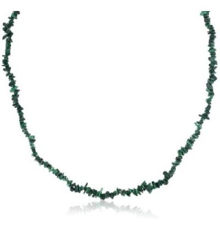 447 00 Carat Malachite Chip Necklace