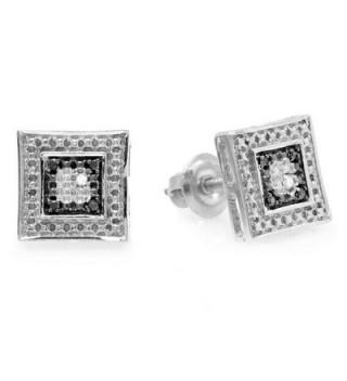 Sterling Silver Diamond Setting Earrings
