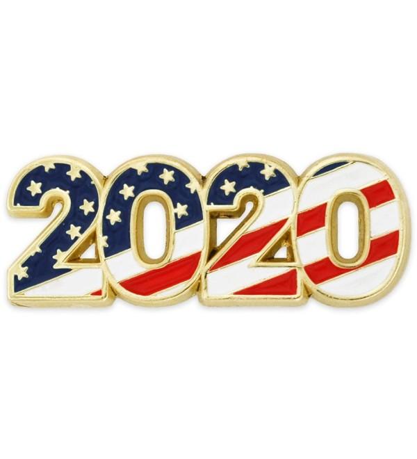 PinMart's 2020 American Flag Patriotic Year Enamel Lapel Pin - CE12MAC6SXD