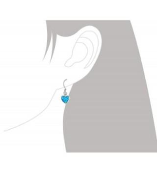 Sterling Silver Synthetic Dangle Earrings in Women's Drop & Dangle Earrings